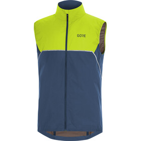 GORE WEAR R7 Partial Gore-Tex Infinium Chaleco Hombre, deep water blue/citrus green